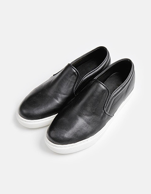 Simple Leather Slip On